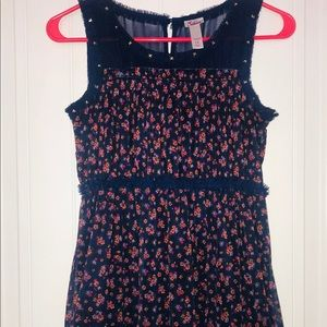 Justice Dress Navy with Flowers